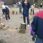 ナラ枯れ木搬出薪割り大作戦