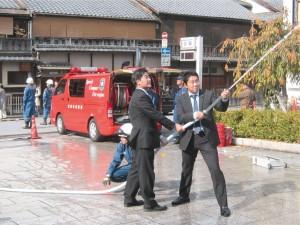 祇園甲部歌舞練場消防訓練